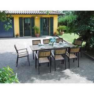 Table de jardin avec chaises en teck - Achat / Vente Table de ...