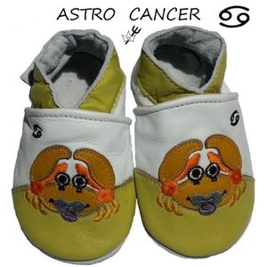 CHAUSSON - PANTOUFLE CHAUSSONS CUIR ASTRO BEBE 0/6 MOIS