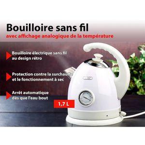 BOUILLOIRE ÉLECTRIQUE Bouilloire électrique avec affichage analogique de