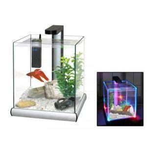 AQUARIUM Aquarium + support alu et LED design