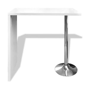 Table basse bar blanc achat vente pas cher for Table bar blanche