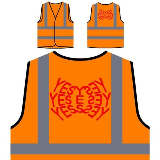 Veste De Protection Orange Personnalisée à Haute Visibilité Oui Oui Oui Oui Oui Oui Oui Nouveauté Drôle Veste De Protection Orange