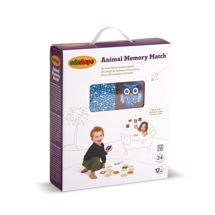 BSM - Memory les animaux - Utilisable dans le bain. 24 pièces - Mixte - A partir de 12 mois - Livré à l'unitéJEU D'APPRENTISSAGE