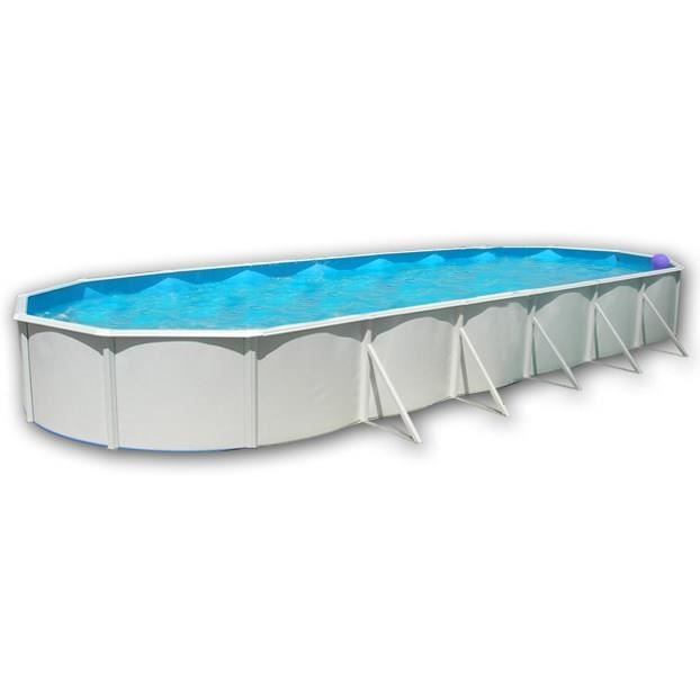 MALLORCA Piscine ovale en acier avec kit d'été et tapis 1200x457x120cm
