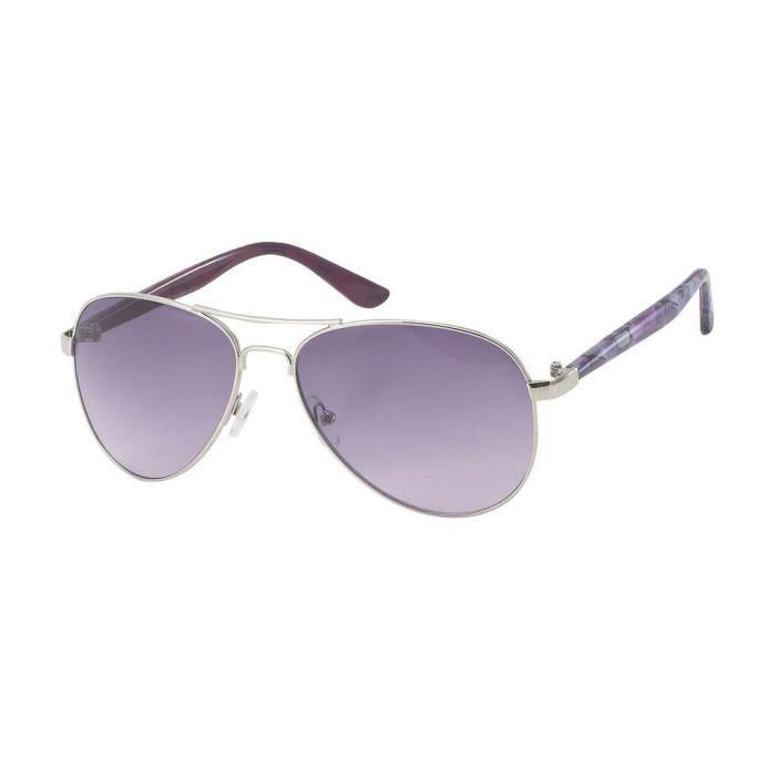 Lunettes de soleil pilote ARTISTE-9504 verres violet et fleurs violines