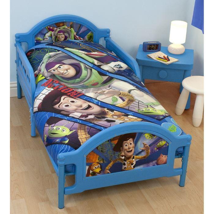 Lit junior toy story disney bleu achat vente lit b b 5055285336844 cdiscount - Lit bebe disney ...