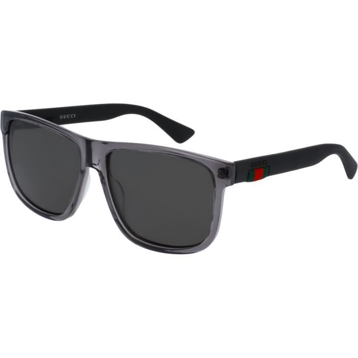 Lunettes de soleil Gucci 0010 S Gris Noir Gris Polarisé 58 - Achat ... b874d9f3f43c