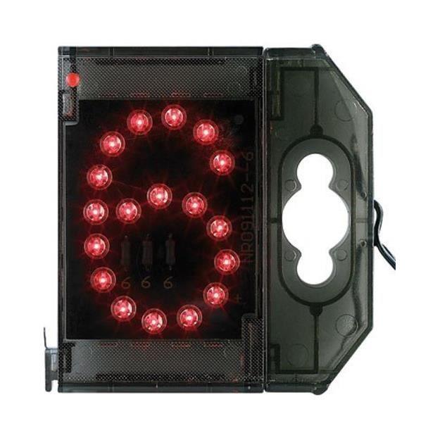 PLAQUE DE PORTE Chiffre lumineux à LED - ''6'' rouge