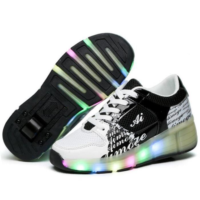 LED Éclairage Heelys Chaussure Superstar Sport Chaussures Une Roue Désign Patins à Roulettes Mode Homme et Femme Basket Sneaker