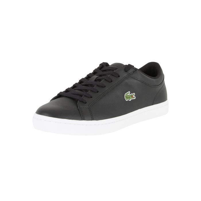 Lacoste Homme Straightset BL 1 Cam Trainers, Noir