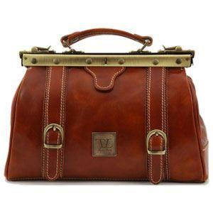 Tuscany Leather - Berlin - Sac de voyage en cuir avec boucles - Grand modèle - Miel - Homme 9VN32zl