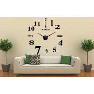 Horloge adhesive achat vente horloge adhesive pas cher for Grande horloge murale pas cher
