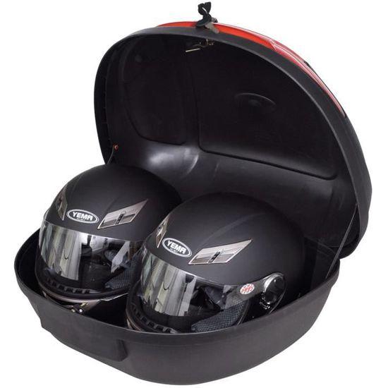 Top case moto 72 l pour 2 casques