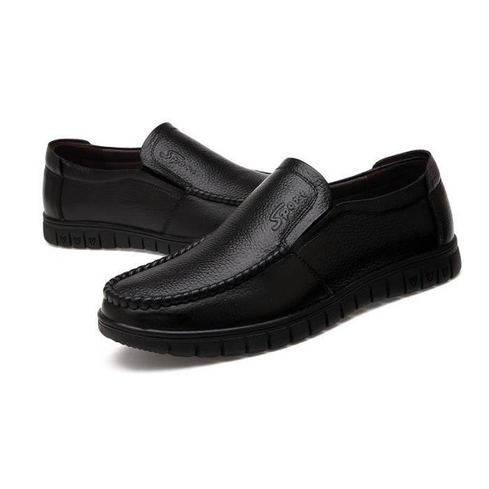 Chaussures Hommes Cuir Confortable mode Homme chaussure de ville BLLT-XZ196Marron38 pvRP6