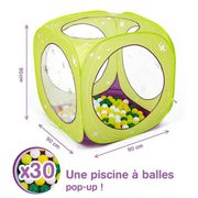 PISCINE À BALLES LUDI Aire de jeu cube à balles Papillons + 85 ball