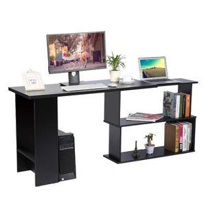 MEUBLE INFORMATIQUE Bureau d'ordinateur Table de PC Bibliothèque - Noi