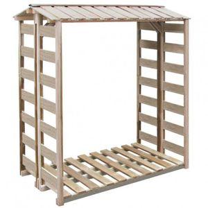 abri de stockage du bois de chauffage 150x100x176cm pin. Black Bedroom Furniture Sets. Home Design Ideas