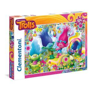 PUZZLE Clementoni 27967-puzzle 104p - Trolls-puzzles Y67R