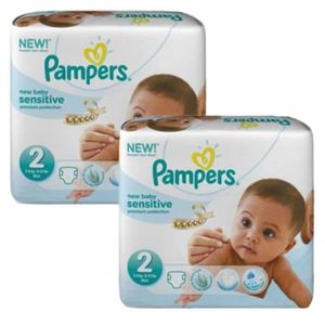 COUCHE 660 Couches Pampers New Baby Sensitive taille 2