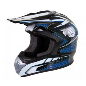 CASQUE MOTO SCOOTER Casque moto cross enduro quad ATV Torx Marvin bleu