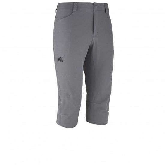 14932dcfa9a Pantacourt Millet Wanaka Stretch 3 4 Tarmac Gris Gris - Achat   Vente  pantalon de sport - Cdiscount