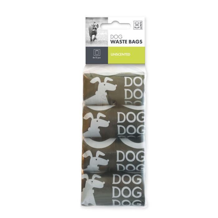 MPETS Recharge ramasse crottes DOG WASTE BAG- Pour chien - 8x15pcs - Noir
