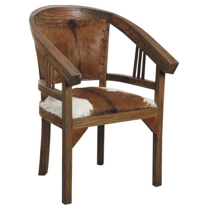 fauteuil en bois d 39 acajou et peau de ch vre achat vente fauteuil cdiscount. Black Bedroom Furniture Sets. Home Design Ideas