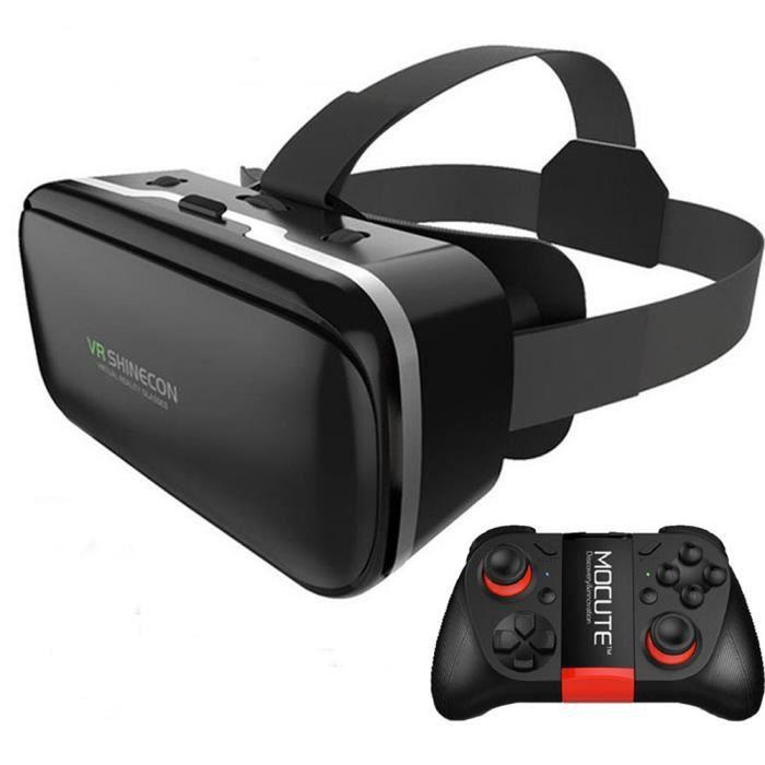 Original VR Shinecon 6.0 Lunettes de Réalité Virtuelle En Carton VRBOX  Casque Pour 4.3-6.0 pouce Smartphone Avec Sans Fil Contrôleur 0f8ccb232403