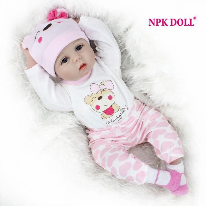 75807176d 22 Pouce Bébé Reborn 55 cm Poupée Reborn Réaliste Baby Doll Pour Filles  silicone bonecas reborn filles jouets