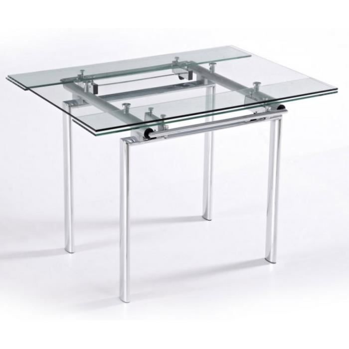 Table Haute En Verre
