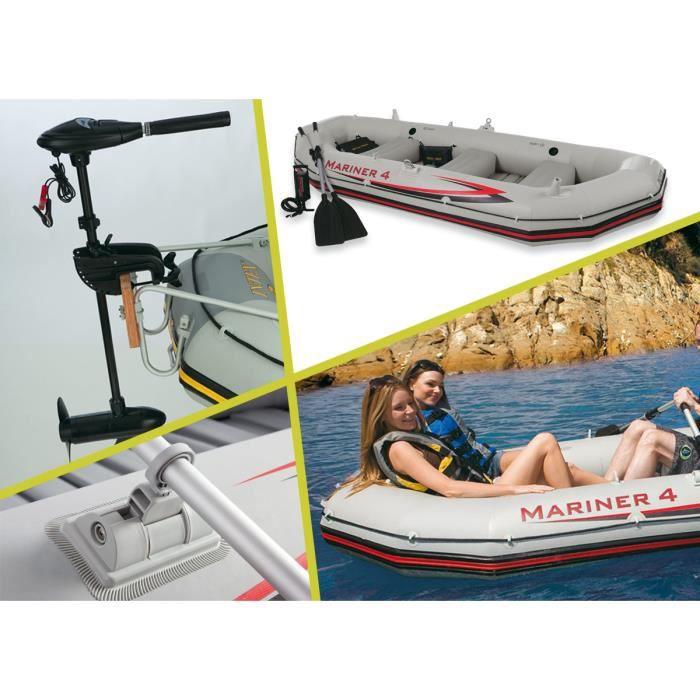 kit bateau 4 places intex moteur prix pas cher cdiscount. Black Bedroom Furniture Sets. Home Design Ideas