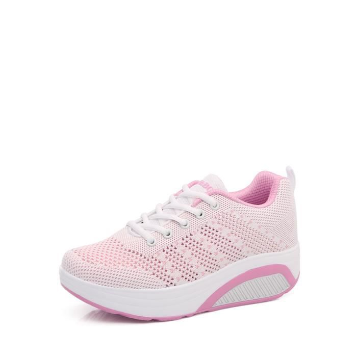 Baskets femme maille respirante Chaussures Casual Up chaussures multisport 6934284