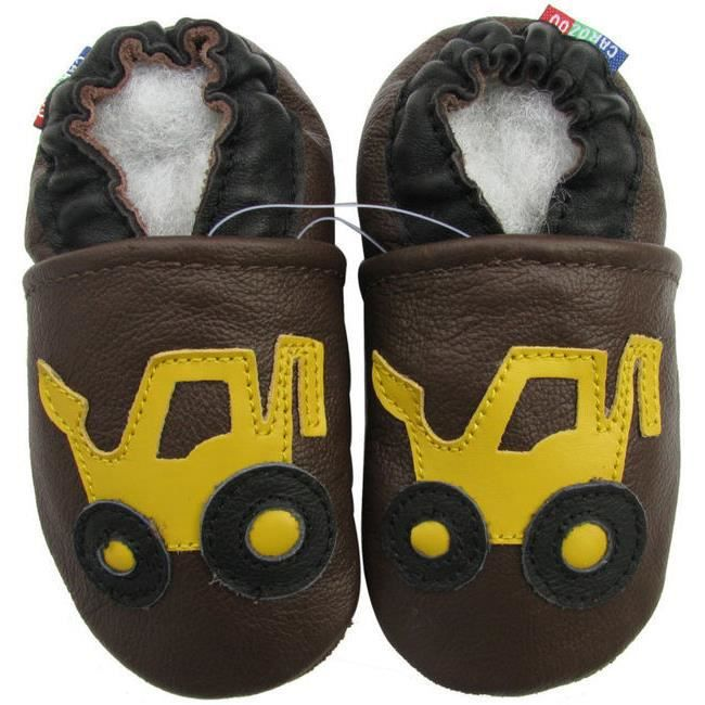 Chaussons Carozoo enfant cuir souple Tracto VmJKxOr