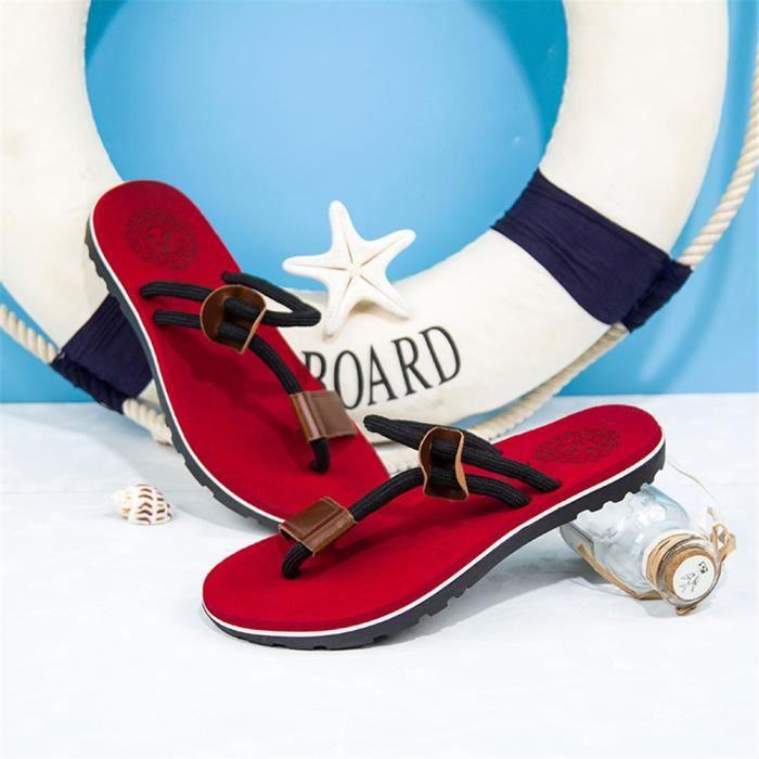 Sandales Personnalité Simple Cuir Mode Féminine Nouveau Anti dérapant Le PPrx6n