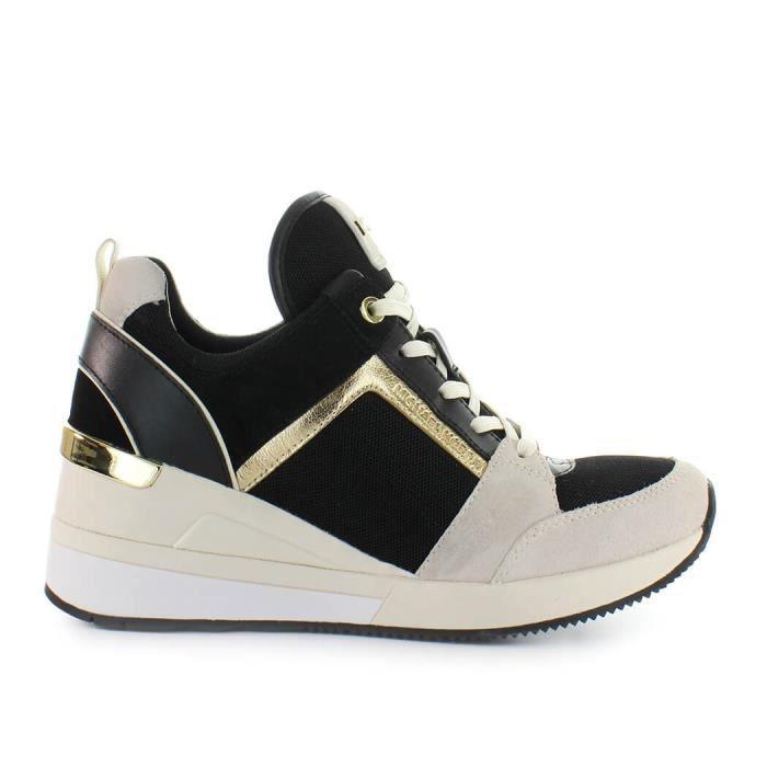 def9dc80c0a0b3 Chaussures Femme Basket Georgie Trainer Noir Crème Michael Kors Printemps,été  2019 ...