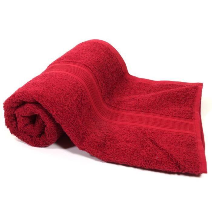 nature mark serviette de bain bordeaux ponge coton 500g m2 serviette 70 x 140 cm r f 33862. Black Bedroom Furniture Sets. Home Design Ideas