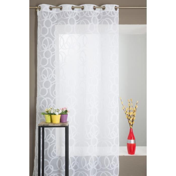 voilage grande hauteur achat vente voilage grande hauteur pas cher cdiscount. Black Bedroom Furniture Sets. Home Design Ideas