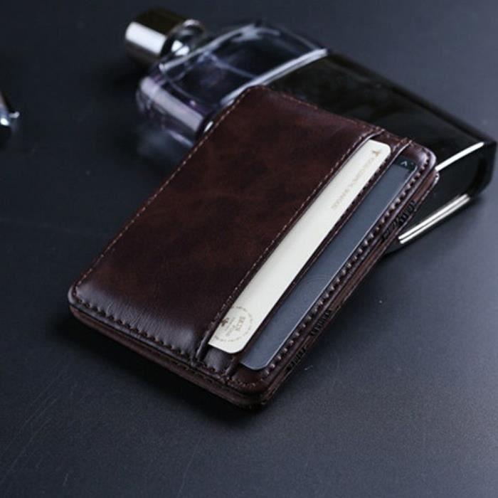 Homme Petit En Id Portefeuilles Crédit De Porte Yj3804 Wallet Cuir Mini Co Carte monnaie UxEqnaPEAw
