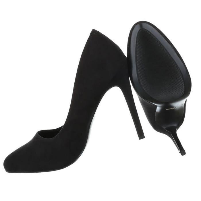 Femme Heels Noir gris Chaussures Escarpin Élégant bordeaux 40 Noir High qIwPIrS4a