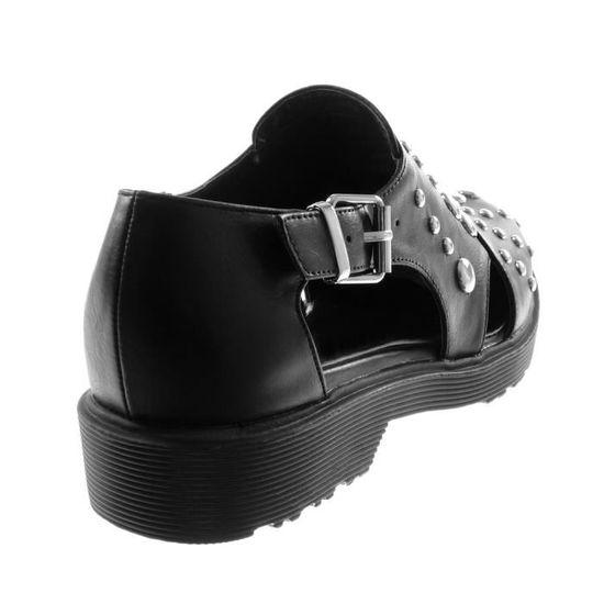 T Perle Bloc Cm Derbies Femme Ouverte 38 Boucle Talon Chaussure Mode dfYwPFq5