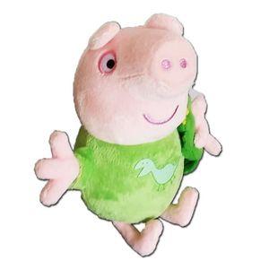 PELUCHE Peppa Pig 17cm Parler Bedtime George Avec Dinosaur