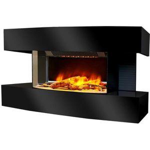 CHEMINÉE Chemin'arte - cheminée électrique 2000w noir - lou