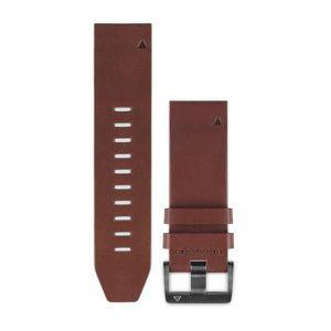 BRACELET MONTRE CONNEC. GARMIN Bracelets QuickFit - 22mm Cuir marron pour