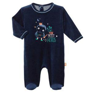 64a3138e73e91 PYJAMA Pyjama bébé velours Petit Héros - Taille - 3 mois