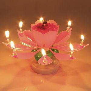 BOUGIE ANNIVERSAIRE  bougie de musique de fleur Magique Bougie à musiq