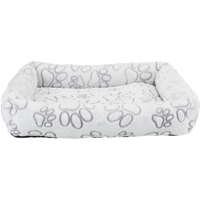 TRIXIE Lit Nando 75 × 65 cm - Gris clair - Pour chien