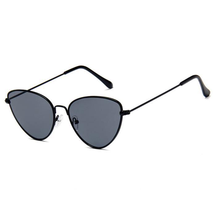 Lunettes de soleil ronde mixte homme et femme marque de Luxe sunglasses  Moderne Armature Noir  7bb5f848d940