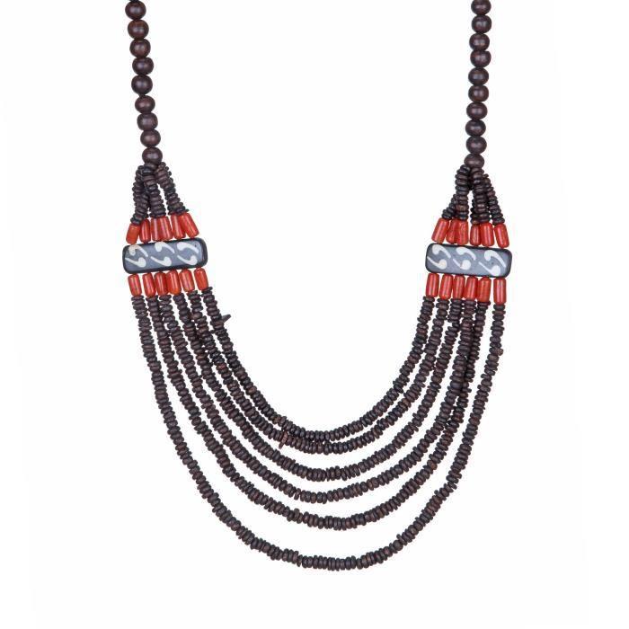 Collier rouge - od - os brun (4011) Femmes FKB0O