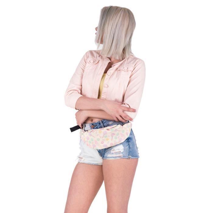 De Jaune®estimetown Ynz09142983 Courir Fanny sac Randonnées Paquet Pratique Ceinture Sport Zipper Sac Mode Taille q54awxO56