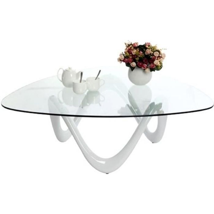 Table basse de salon blanche - Niagara - Achat / Vente table basse ...